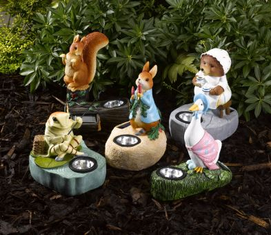Smart Solar's new solar powered Beatrix Potter figurines